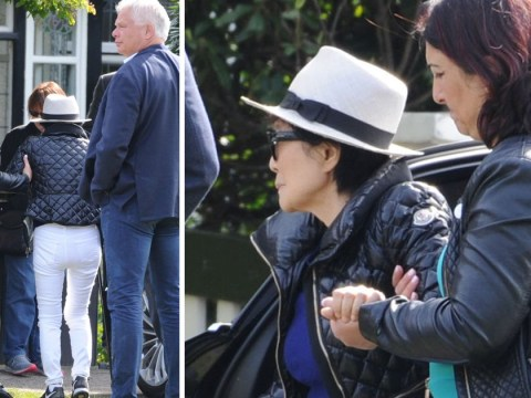Yoko Ono looks frail as she visits Liverpool for John Lennon exhibition: 'I always feel his warmth next to me'