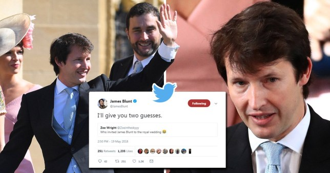 Someone gave James Blunt his phone during the Royal Wedding Breakfast - let the zingers fly!