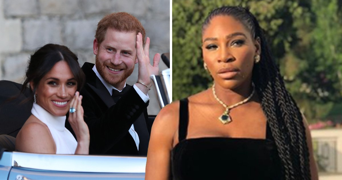 Serena Williams was the beer pong queen at Harry and Meghan's reception