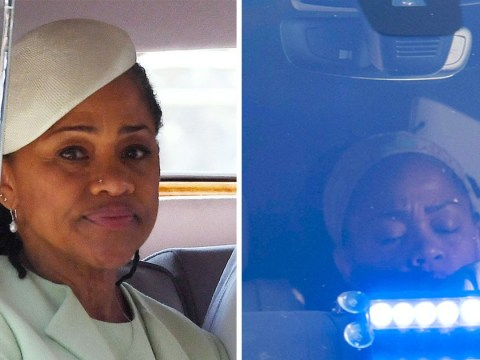 Meghan Markle's mum caught up with jetlag on her way from church to reception