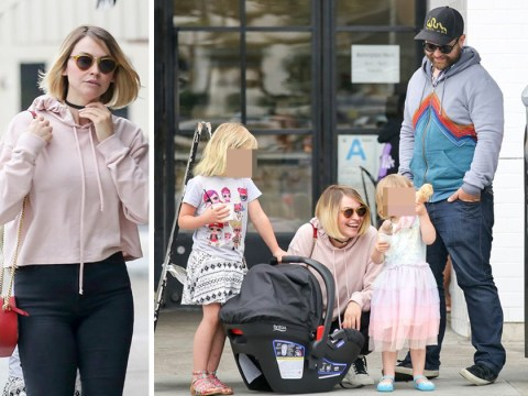 Jack Osbourne and Lisa Skelly aren't letting divorce get them down as they enjoy family outing