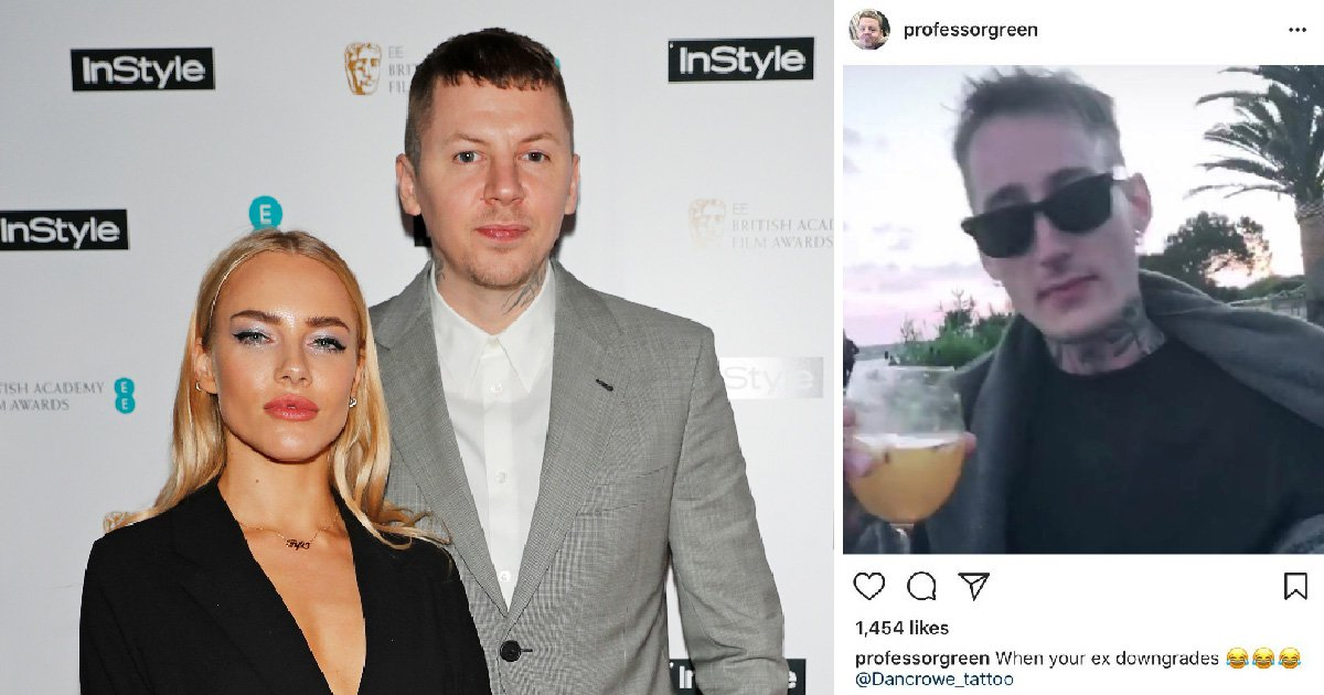 Professor Green calls ex Fae Williams' new boyfriend a 'downgrade' in scathing post