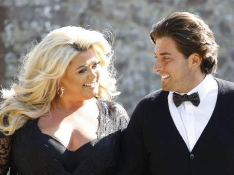 Gemma Collins struts her stuff in sheer lace dress as she walks hand in hand with dapper James Argent
