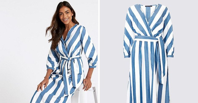 The M&S blue and white stripe summer dress everyone is obsessed with is FINALLY on sale