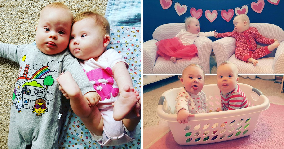 Toddlers with Down Syndrome are best friends
