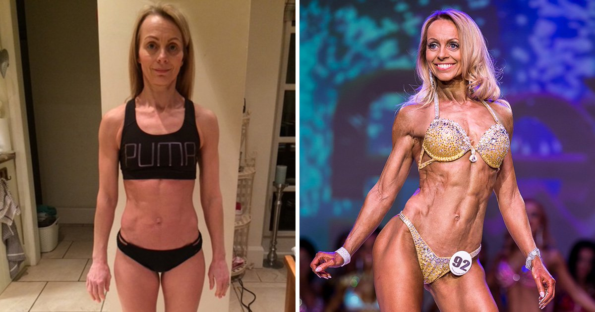 Mum, 48, becomes pro bodybuilder after remarkable four-month transformation