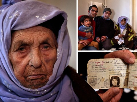 World's oldest refugee, 111, carried to Europe on son's back wants to see her grandchildren