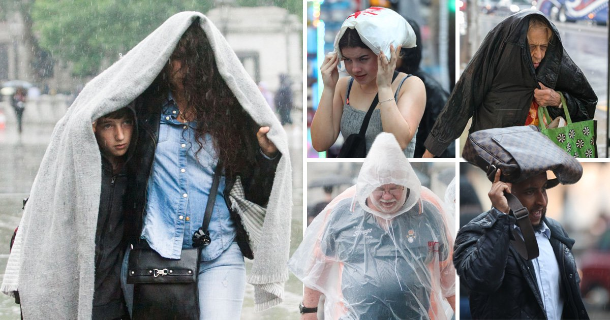 Britain battered by rain and thunderstorms as heatwave comes to an end