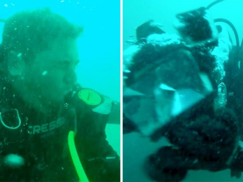 Army veteran's oxygen tank fails 100ft under water during dive with his friend