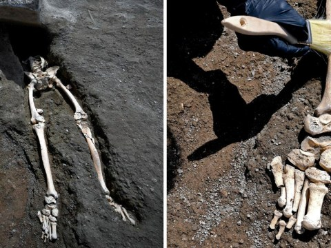 Headless remains found at Pompeii of man trying to flee Mount Vesuvius