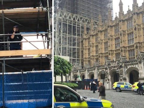 Man arrested trying to climb over security fence at Houses of Parliament