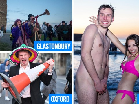 People strip and others go a bit nuts to celebrate May Day