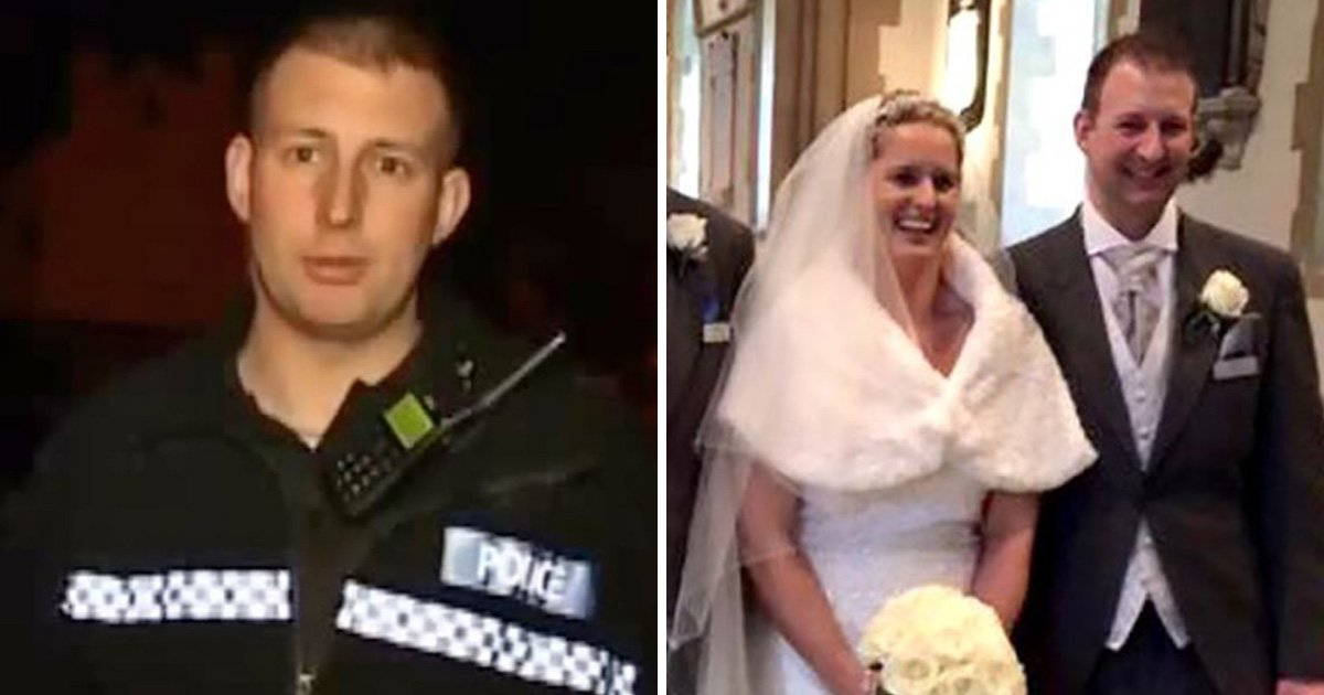 Pregnant wife of TV policeman found out he'd died after reading police computer