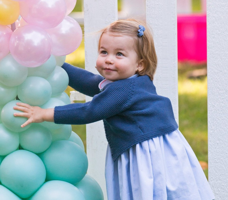 VICTORIA, BC - SEPTEMBER 29: (NO UK SALES FOR 28 DAYS) Princess Charlotte of Cambridge attends a children's party for Military families during the Royal Tour of Canada on September 29, 2016 in Victoria, Canada. (Photo by Pool/Sam Hussein/WireImage)