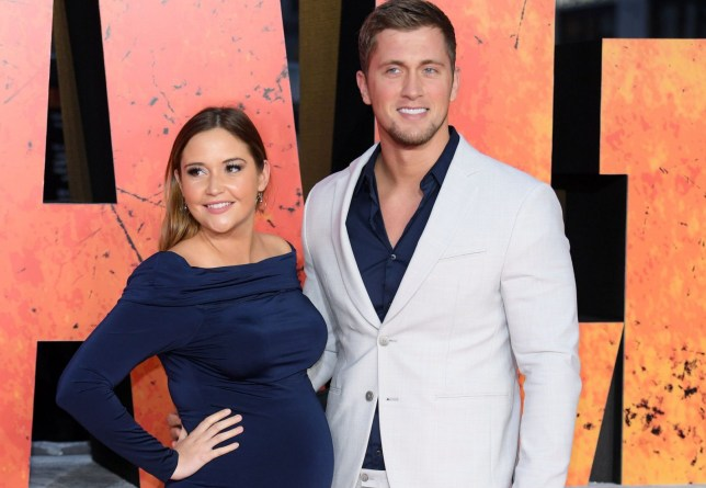 Mandatory Credit: Photo by David Fisher/REX/Shutterstock (9624861bs) Jacqueline Jossa and Dan Osborne 'Rampage' film premiere, London, UK - 11 Apr 2018