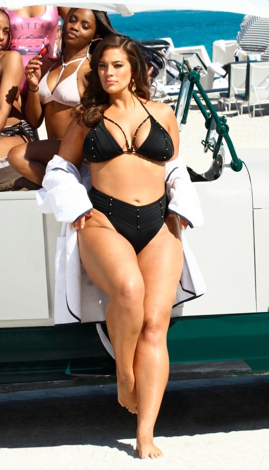 Ashley Graham is seen here in all her natural beauty in a series of unretouched photographs from a beach shoot for the launch of her Summer 2018 swimwear collection. The 30-year-old American model has fittingly called the new line Power Of Paparazzi . In the snaps, the plus-size model shows off her curvy figure in a plethora of bikinis and swimsuits from her collaboration with Swimsuits For All. The images were shot on a beach in Miami. Ashley explained that she wants women to feel empowered by the photos and feel confident in their skin, despite their perceived imperfections . She said: This campaign is different than any other I have worked on throughout my entire career.?? I hope these images instill a fearless belief in everyone to be happy in their own skin and enjoy living in the moment, no matter who is watching. Miami Beach was perfect backdrop for the collection, which is inspired by art deco, a calling card of the city's art and architecture. Sexy cutouts, geometric motifs, curvilinear forms, and sharply defined silhouettes allow Ashley's latest Swimsuits For All collection to stand out. Swimsuits For All comes in sizes 4-34 and has been the online swimwear leader since 2005. The Ashley Graham x Swimsuits For All Summer 2018 collection became available on??SwimsuitsForAll.com??beginning??May 1, 2018. 02 May 2018 Pictured: CAPTION: Ashley Graham Swimsuits For All Summer 2018 collection called Power Of Paparazzi was released on May 1, 2018. LOCAL CAPTION: Unretouched photographs from beach in Miami. Photo credit: Swimsuits For All/ MEGA TheMegaAgency.com +1 888 505 6342