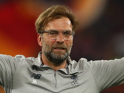 Manchester City midfielder Ilkay Gundogan congratulates Jurgen Klopp as Liverpool reach Champions League final