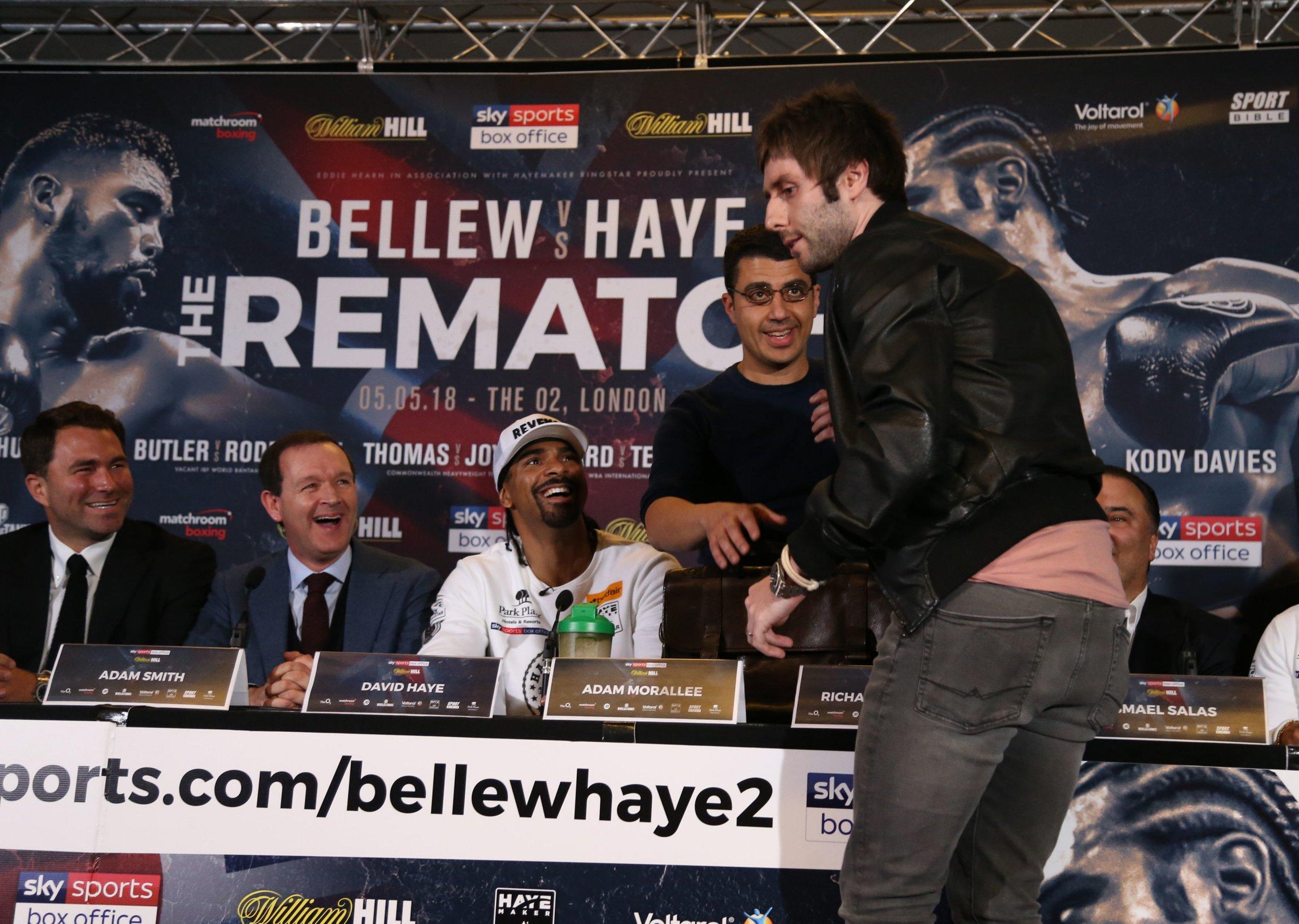 Actor James Buckley gatecrashes Bellew-Haye presser to defend 'Will from the Inbetweeners'