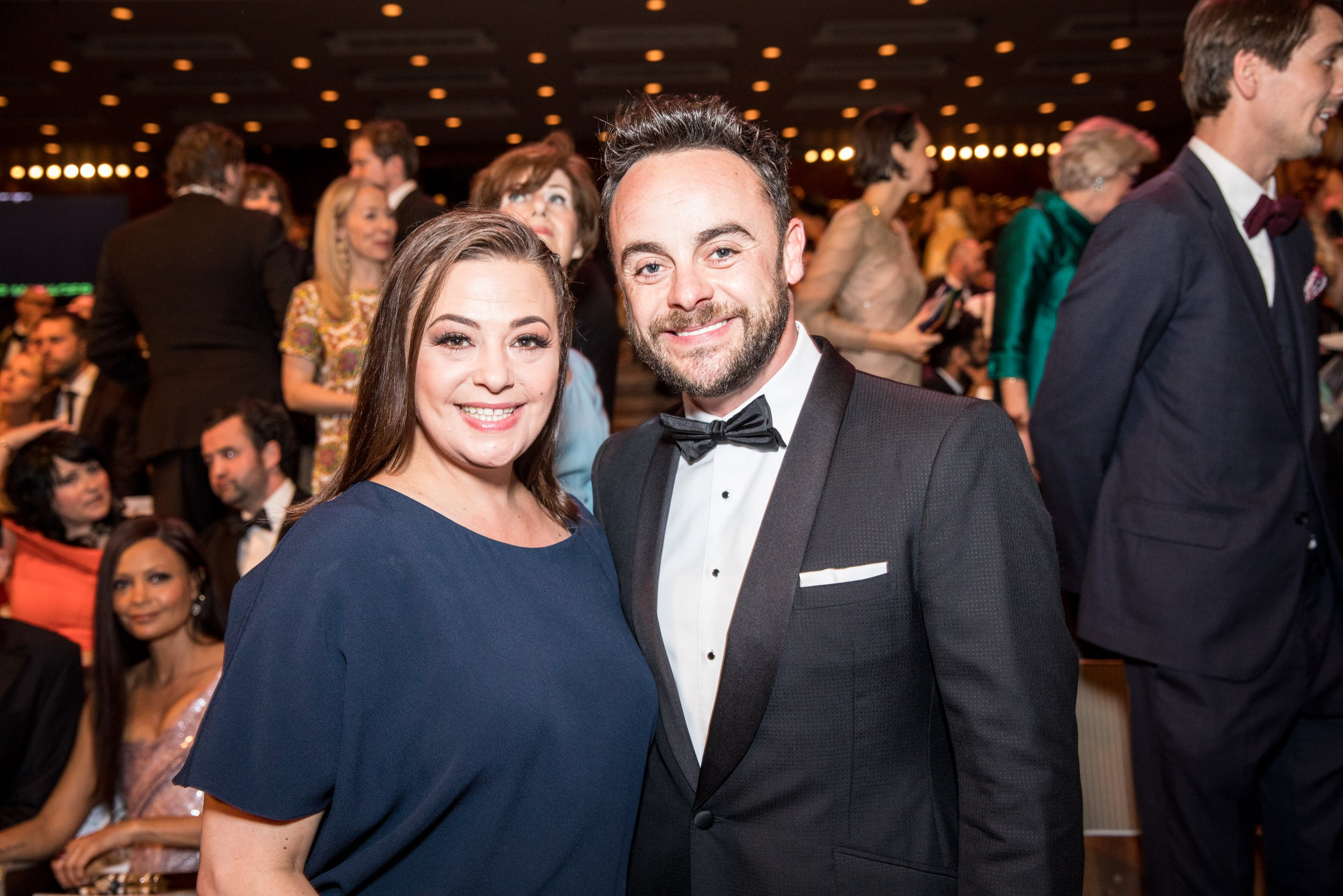 Mandatory Credit: Photo by Guy Levy/BAFTA/REX/Shutterstock (8821320t) Anthony McPartlin, Lisa Armstrong Virgin TV British Academy Television Awards 2017, Auditorium, Royal Festival Hall, London, UK - 14 May 2017