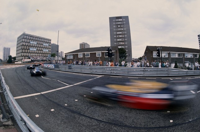 At speed through the streets during the FIA International F3000 Championship Halfords Birmingham Superprix race on 27th August 1990 on the streets of Birmingham, Great Britain. (Photo by Russell Cheyne/Getty Images)
