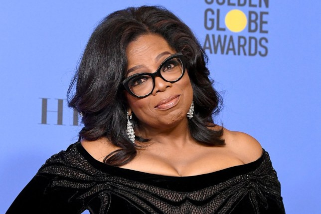 BEVERLY HILLS, CA - JANUARY 07: Oprah Winfrey poses with the Cecil B. DeMille Award in the press room during The 75th Annual Golden Globe Awards at The Beverly Hilton Hotel on January 7, 2018 in Beverly Hills, California. (Photo by Steve Granitz/WireImage)