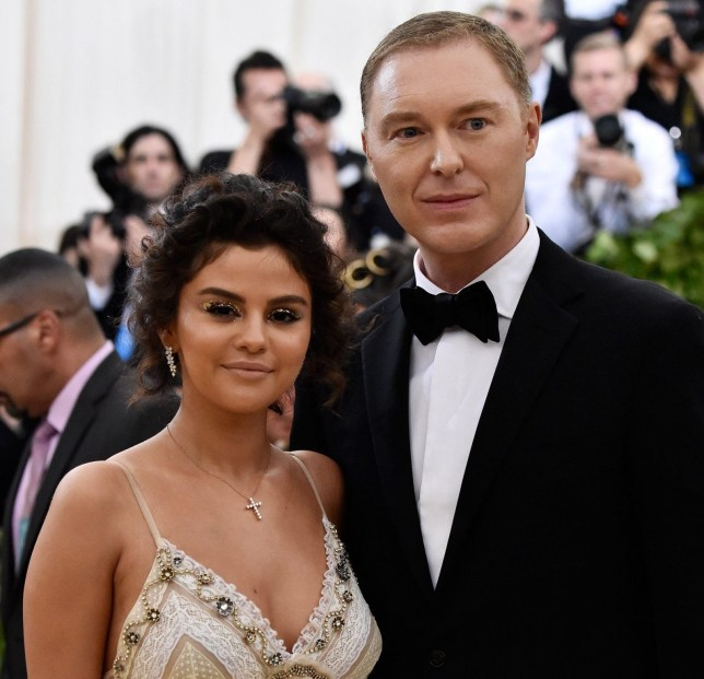 NEW YORK, NY - MAY 07: Selena Gomez and Stuart Vevers attends the Heavenly Bodies: Fashion & The Catholic Imagination Costume Institute Gala at The Metropolitan Museum of Art on May 7, 2018 in New York City. (Photo by Frazer Harrison/FilmMagic)