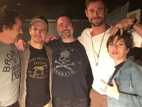 Robert Downey Jr., Chris Hemsworth and Scarlett Johansson joke around as original Avengers crew get matching tattoos