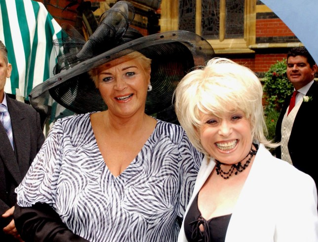 Mandatory Credit: Photo by STEPHEN BUTLER/REX/Shutterstock (390704a) PAM ST CLEMENT AND BARBARA WINDSOR LETITIA DEAN WEDDING, ALL SAINTS CHURCH, LONDON, BRITAIN - 28 SEP 2002