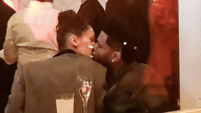 2a1de3af1ae3 Bella Hadid and The Weeknd Seen Kissing at the Magnum VIP Party in Cannes  during the