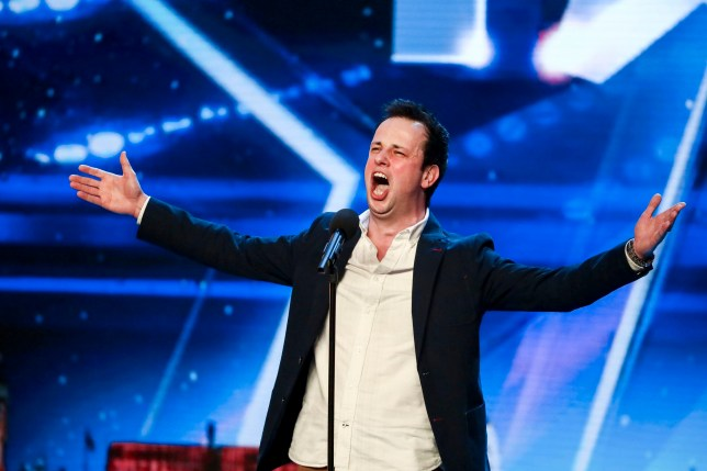 Embargoed to 0001 Saturday May 12 MANDATORY CREDIT REQUIRED: TOM DYMOND/SYCO/THAMES Undated handout photo of Ronan Busfield during the audition stage for ITV1's talent show, Britain's Got Talent. PRESS ASSOCIATION Photo. Issue date: Saturday May 12, 2018. See PA story SHOWBIZ BGT. Photo credit should read: Tom Dymond/Syco/Thames ITV/PA Wire NOTE TO EDITORS: This handout photo may only be used in for editorial reporting purposes for the contemporaneous illustration of events, things or the people in the image or facts mentioned in the caption. Reuse of the picture may require further permission from the copyright holder.