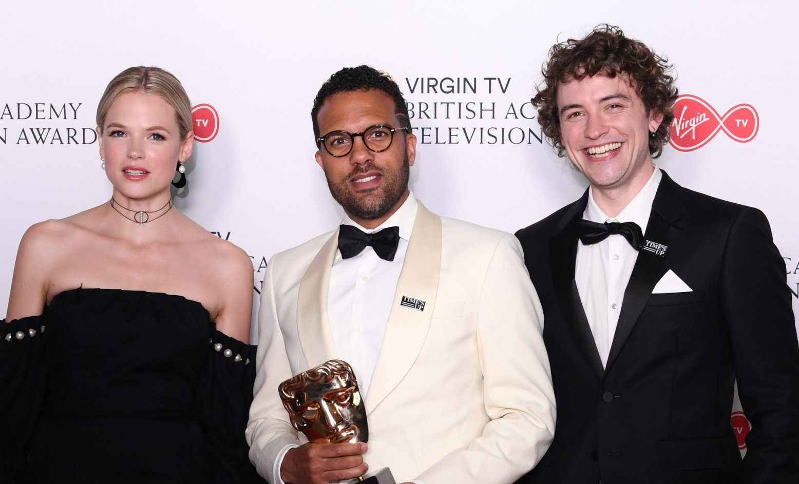 Mandatory Credit: Photo by David Fisher/BAFTA/REX/Shutterstock (9670140v) O-T Fagbenle - International - 'The Handmaid's Tale', presented by Gabriella Wilde and Josh Whitehouse British Academy Television Awards, Press Room, Royal Festival Hall, London, UK - 13 May 2018