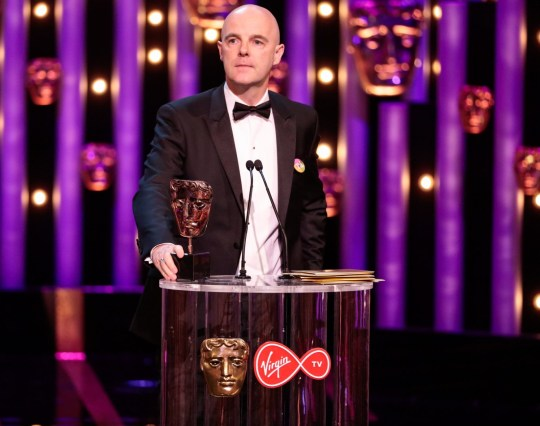 Mandatory Credit: Photo by Guy Levy/BAFTA/REX/Shutterstock (9670142ay) Brian F O Byrne, Supporting Actor Award, 'Little Boy Blue' British Academy Television Awards, Ceremony, Royal Festival Hall, London, UK - 13 May 2018