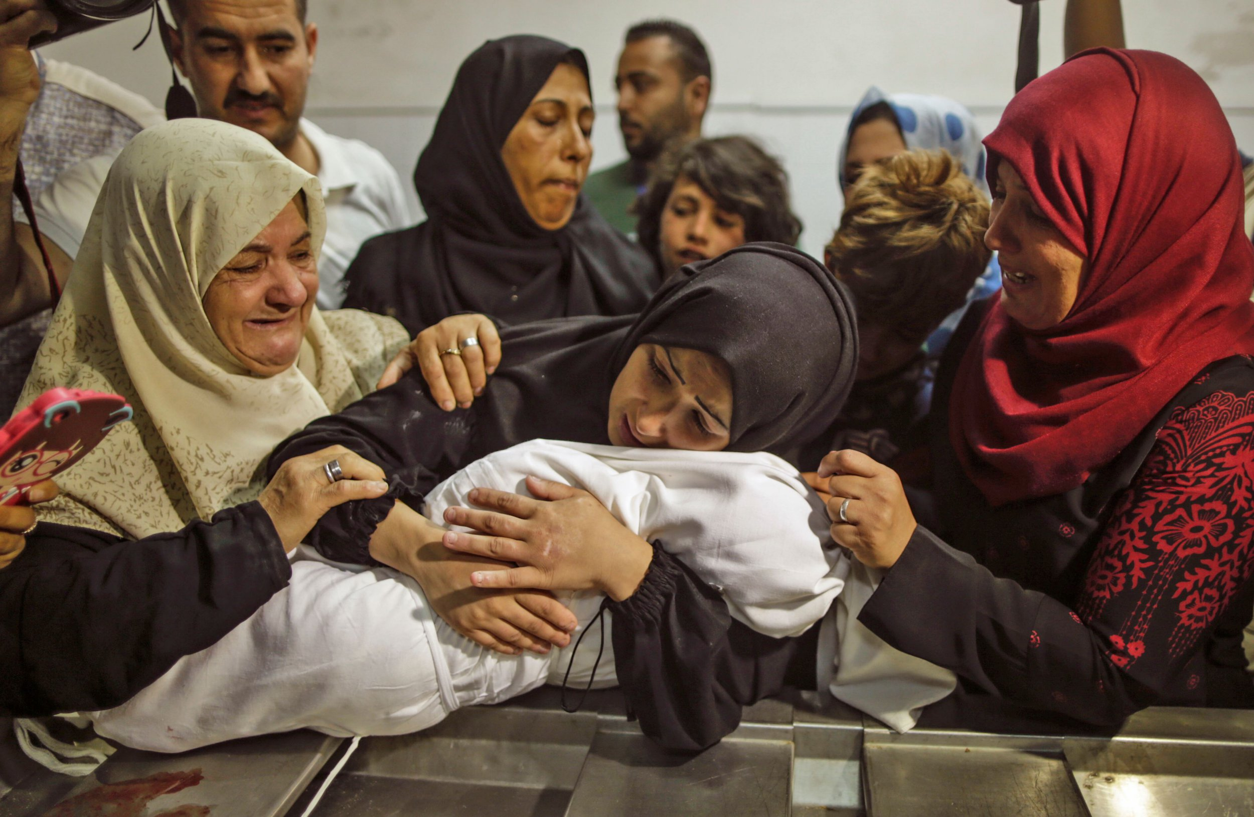 Mother's cries of pain for baby girl choked to death by tear gas in Gaza