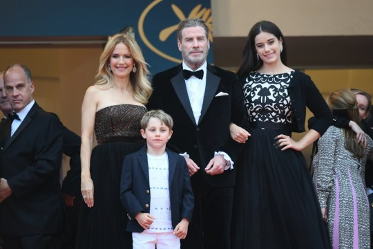 Stars attend the film premire of 'Solo: A Star Wars Story' during the 71st Annual Cannes Film Festival in Cannes, France. Pictured: Kelly Preston ,John Travolta, Ella Bleu, Jett Ref: SPL1698605 160518 Picture by: E-Press / Splash News