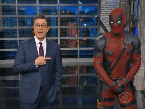Deadpool gatecrashes Stephen Colbert's monologue to hit out at Trump