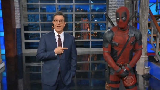 Deadpool gatecrashes Stephen Colbert's monologue to hit out