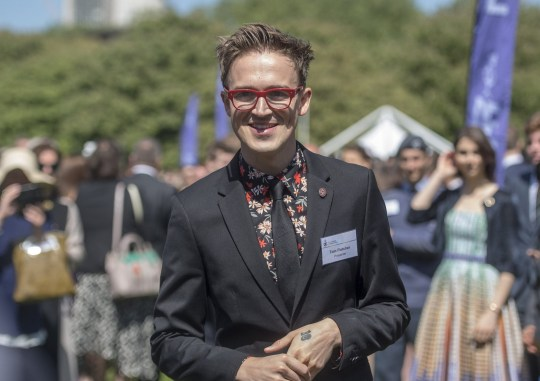 LONDON, UNITED KINGDOM - MAY 17: Tom Fletcher attends a reception for young people who have achieved their Gold Awards during a ceremony for the Duke of Edinburgh's Award in the gardens at Buckingham Palace on May 17, 2018 in London, England. (Photo by Victoria Jones - Pool/Getty Images)