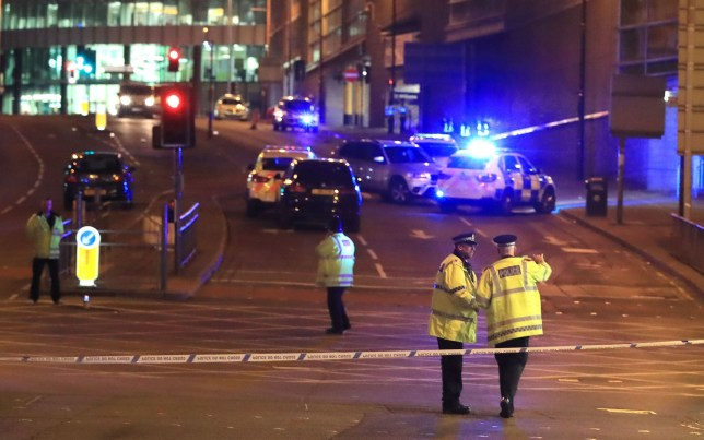 File photo dated 23/05/17 of emergency services at Manchester Arena after a bomb went off during an Ariana Grande concert. A national one-minute silence will be held on the anniversary of the atrocity to remember the 22 people who lost their lives. PRESS ASSOCIATION Photo. Issue date: Friday May 18, 2018. The Duke of Cambridge and Prime Minister Theresa May will be among those attending a service of remembrance at Manchester Cathedral, along with families of the victims of the suicide bombing, the injured, the first responders to the scene, civic leaders and other national figures. See PA story POLICE Arena. Photo credit should read: Peter Byrne/PA Wire