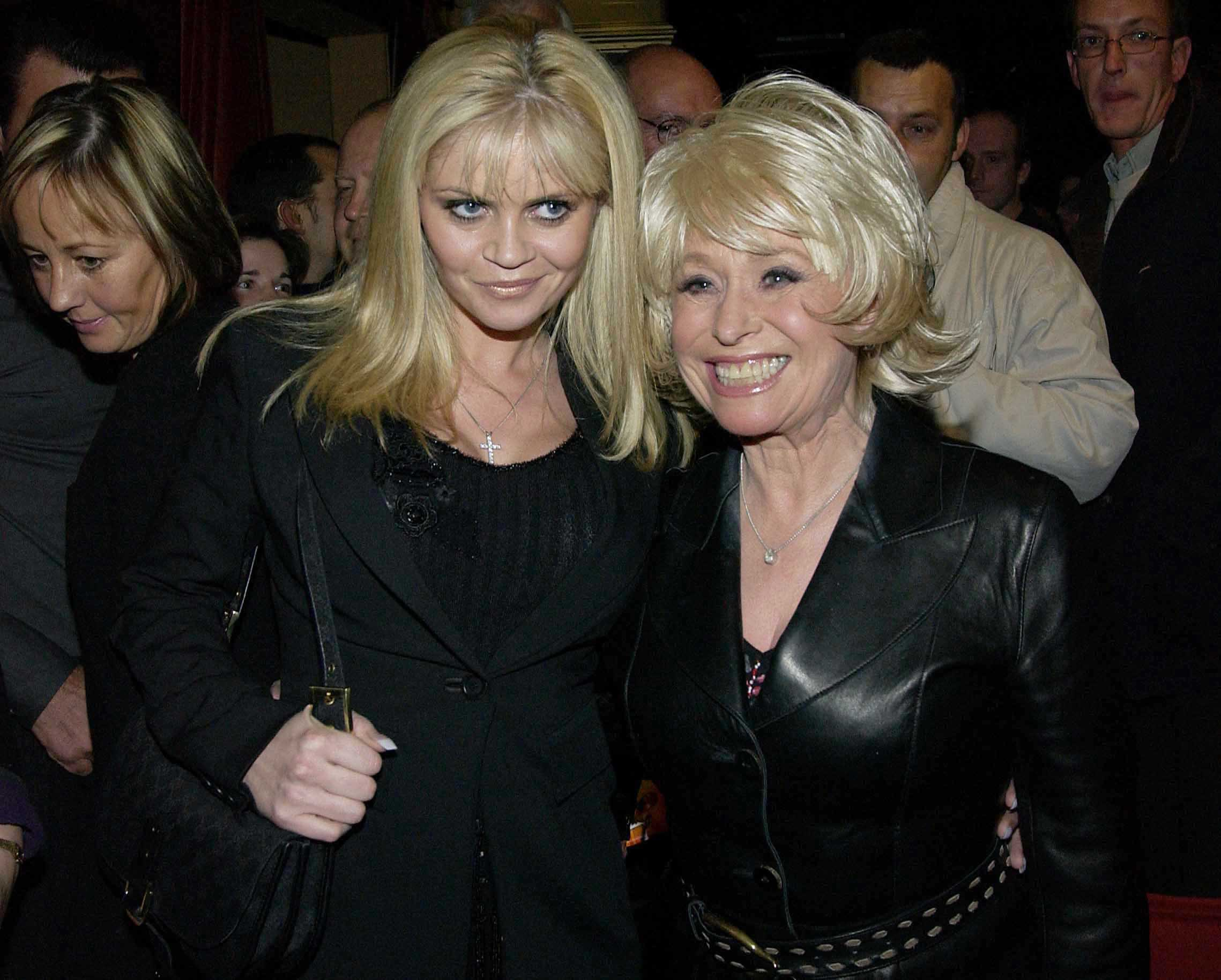 Mandatory Credit: Photo by Alan Davidson/Silverhub/REX/Shutterstock (9190555m) Danniella Westbrook and Barbara Windsor Chicago 5th Anniversary and cast change at The Adelphi Theatre and party at Navajo Joe on 19 Nov 2002