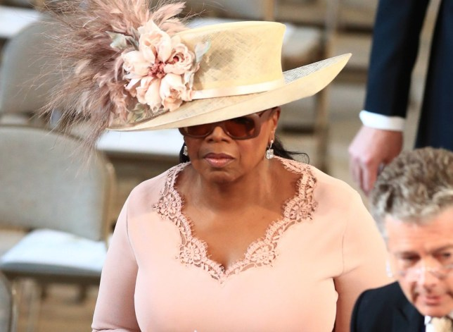 Oprah Winfrey arrives in St George's Chapel at Windsor Castle for the wedding of Prince Harry and Meghan Markle. PRESS ASSOCIATION Photo. Picture date: Saturday May 19, 2018. See PA story ROYAL Wedding. Photo credit should read: Danny Lawson/PA Wire