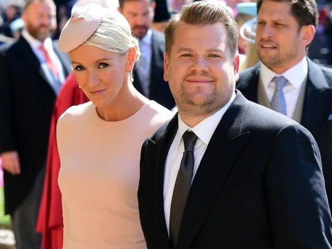 James Corden and wife Julia join the elite at the royal wedding ceremony