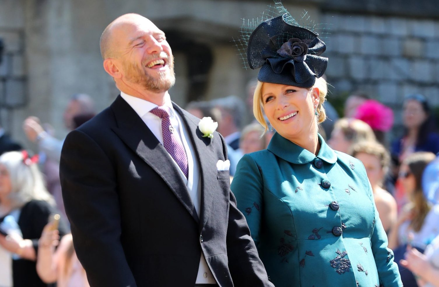 When is pregnant Zara Phillips' baby due, when was Mike