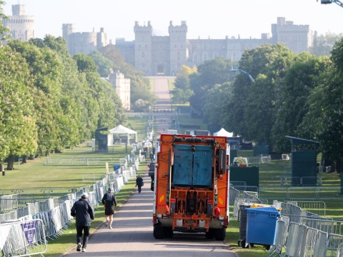 Royal wedding clean-up begins as Windsor comes back down to earth