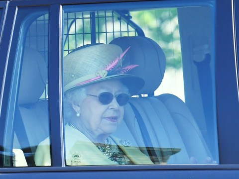 Queen spotted in sunglasses but no sign of Meghan and Harry after party of the year