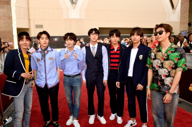 LAS VEGAS, NV - MAY 20: Musical group BTS attend the 2018 Billboard Music Awards at MGM Grand Garden Arena on May 20, 2018 in Las Vegas, Nevada. (Photo by Matt Winkelmeyer/Getty Images for dcp)