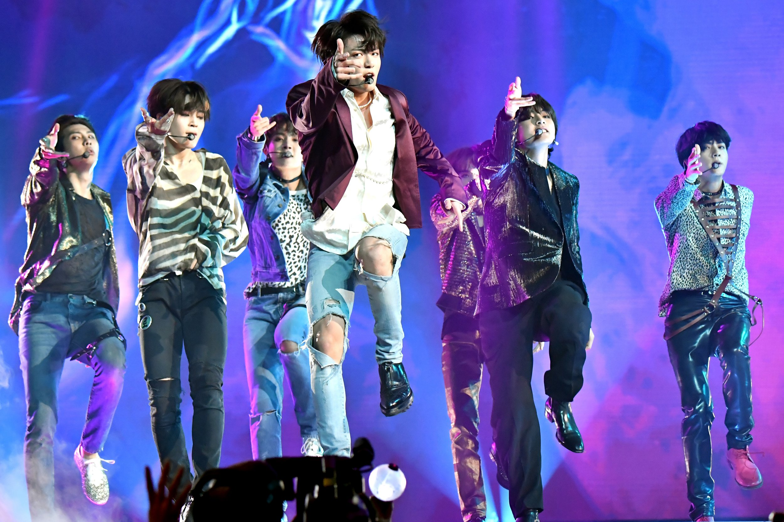 LAS VEGAS, NV - MAY 20: Musical group BTS perform onstage during the 2018 Billboard Music Awards at MGM Grand Garden Arena on May 20, 2018 in Las Vegas, Nevada. (Photo by Jeff Kravitz/FilmMagic)