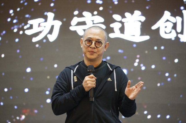 TONGLING, CHINA - NOVEMBER 03: Actor Jet Li attends 'Gong Shou Dao' Kung Fu camp closing ceremony on November 3, 2017 in Tongling, China. Jet Li said that 'Gong Shou Dao', which means the art of guard and defense, is a new sport based on Tai Chi. (Photo by VCG/VCG via Getty Images)