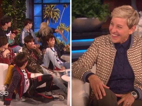 BTS get adorably scared as 'fan girl' pranks them on The Ellen Show
