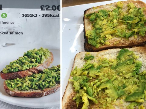 Smashed avocado comes exactly as described at Sainsbury's