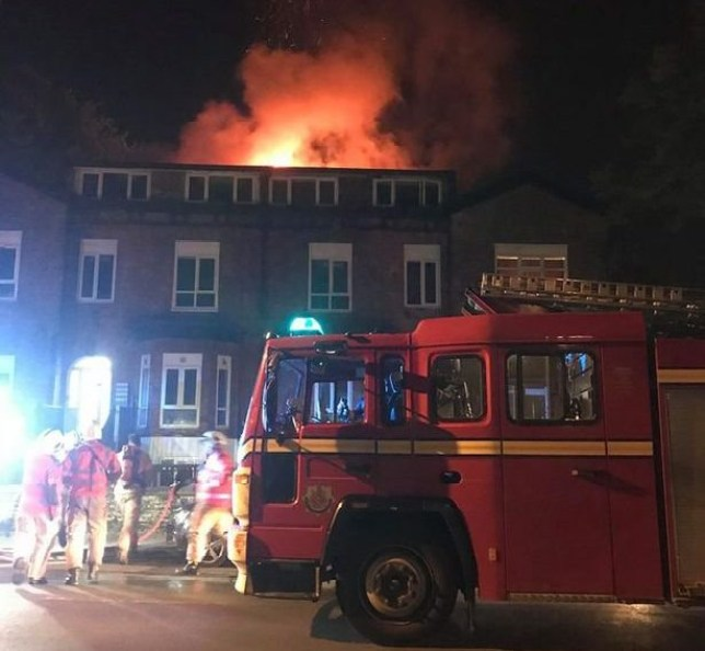 The fire at student flats on Egerton Road in Fallowfield